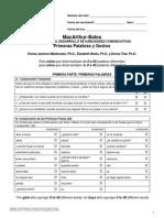 Inventario del desarrollo de habilidades comunicativas MacArthur - Bates