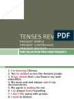 Tenses - Revision
