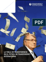 LA TABLA DE TRANSPARENCIA EN EL FÚTBOL DE TRANSPARENCY INTERNATIONAL