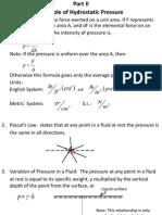 Principles of Hydrostatic Pressure