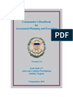Commander's Handbook for Assessment Planning and Execution
