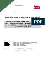 Rapport D'enquête Déraillement Rame Dessai