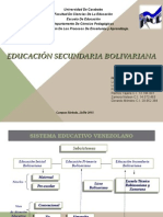 Subsistema Educaciòn Secundaria