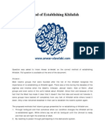 Method of Establishing Khilafah - Anwar Al-Awlaki