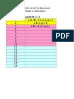1º Eso-planing Ejercicios Para Hacer en Casa Números Decimales y Porcentajes (Excel 2003)