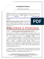 Fichamento de CASTRO, Liliane S._PEREIRA, Paloma