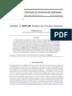 CircStat a MATLAB Toolbox for Circular Statistics