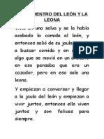 El Encuentro Del León y La Leona