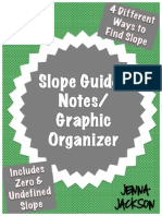 Slope Graphic Organizer and Guided Notes