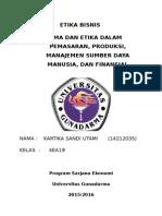 Tugas 3 Norma Dan Etika Dalam Pemasaran, Produksi, Manajemen Sumber Daya Manusia, Dan Finansial