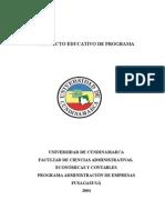 Proyecto Educativo de Programa Admón Empresas