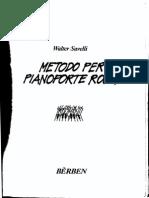 Walter Savelli Metodo Per Pianoforte Rock PDF