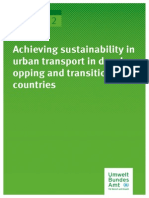 Achieving Sustainability in Urban Transport 2012
