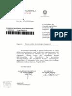 Codice Deontologico Circolare CNI n. 375 Del 14 Maggio 2014