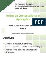 Aula10 - Introducao Ao Ethernet