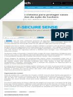 CONSULTCORP F-SECURE Lança Sistema Para Proteger Casas Superconectadas Da Ação de Hackers
