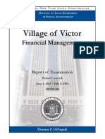 State Comptroller's Office Audit of the Village of Victor