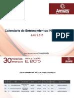 Calendario Entrenamiento Amway Colombia