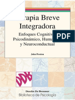 Terapia Breve Integradora Enfoques Cognitivo, Psicodinámico, Humanista y Neuroconductual