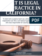 What Is Legal Malpractice in California?