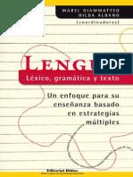Albano Gian. Lengua Lexico