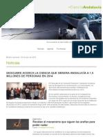 + Ciencia Andalucía 3 de julio de 2015