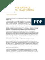 HECHOS JURIDICOS - CLASIFICIACION