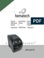 Impressora Não Fiscal Bematech MP-4200 TH Térmica Com Guilhotina Preto