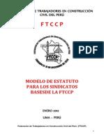 Modelo de Estatuto Para Los Sindicatos Bases de La FTCCP