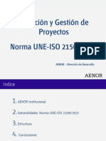 Aplicación da Une-Iso 21500