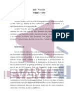 Carta Proposta da Chapa Levante! à gestão 2015/2016 do CARI