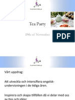 tea party 19th of november