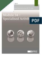 Module 34 Specialised Activities Version 2013