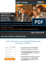 ASUG Webcast-Best Practices for Year-End Closing With SAP's Project Portfolio Management (PPM) and Project Systems (PS)_December 2013