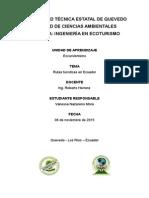 Rutas turisticas en Ecuador