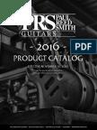 Prs Product Catalog 2016