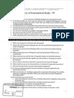 History of Grammatical Study - Guía de Lectura 1