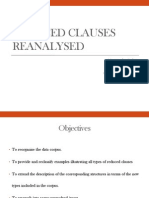 Reduced Clauses Reanalysed Ok