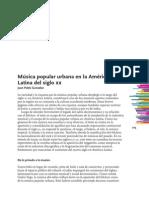 Juan Pablo Gonzalez - Música Popular Urbana en América Latina Siglo XX