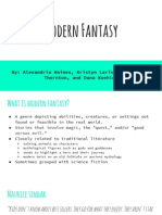modern fantasy  group presentation