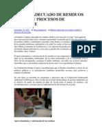 Manejo Adecuado de Residuos Sólidos y Procesos de Reciclaje