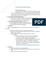 Guía Para Trabajo Final de Filosofía Política