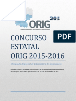 Itinerario Concurso Estatal ORIG 2015