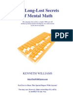 Mental Math Secrets