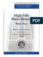 High Falls Water District Audit
