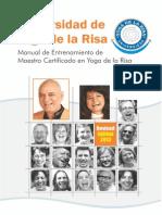 Yoga de la Risa Yoga Laughter in Spanish Teacher Mannual 2013