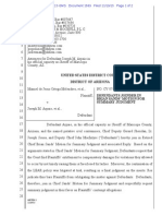 Melendres # 1569 | Arpaio et al Joinder in Sands Motion for SJ