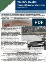 Wildlife Health Surveillance Vic Nov 2015