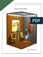 Autocad 3D Modelando Un Detalle Sala-Por Guillermo de Leon S.