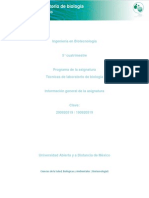 Conocimiento General Del Laboratorio en Biologia